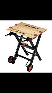 Black and decker workmate with built in dolley