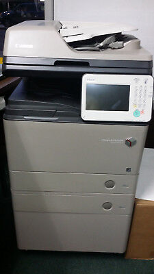 Canon Imagerunner Advance 500if Copier W 2 Trays And A Cabinet