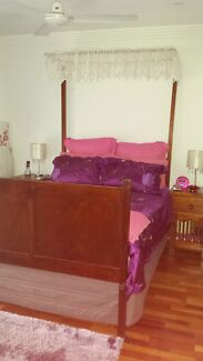 Antique Silky Oak Bed Strathpine Pine Rivers Area Preview