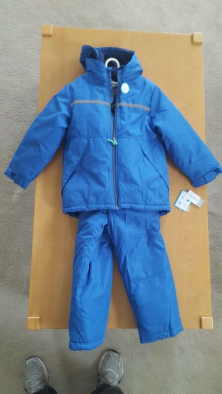 Carters Boys Snow Suit Set Winter Hooded Insulated Jacket Ski Pants NWT Size 7 L