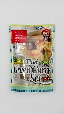 Thai Green Curry Set Home Cooking Thai Food Kit One Dish Asia Thailand Cuisine Green Curry Dishes