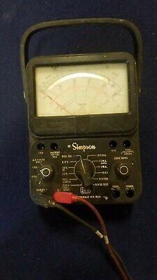 Vintage Simpson 260 Series 5 Volt-ohm-milliammeter With Leads Tested