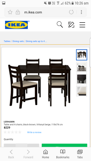 Ikea Dining Table with 4 Chairs - Good Condition