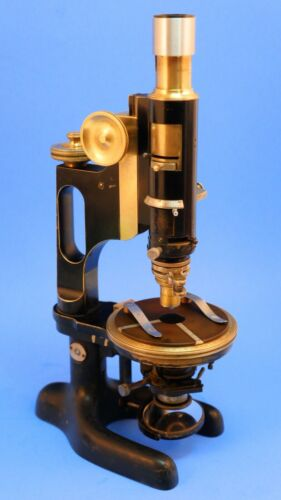 BAUSCH & LOMB VINTAGE BRASS LCH PETROGRAPHIC POLARIZING MICROSCOPE, C.1917