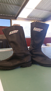 SPIDER MOTORCYCLE LEATHER RIDING BOOTS Flagstaff Hill Morphett Vale Area Preview