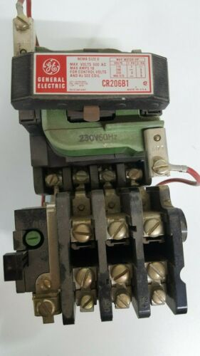 General Electric GE CR206B1 Size 0 Motor Starter With 230 Volt Coil