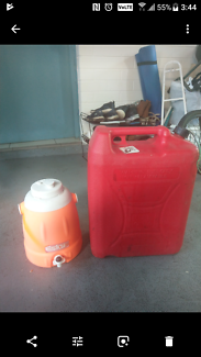 Petrol fuel can and water Refill Cooler Leanyer Darwin City Preview