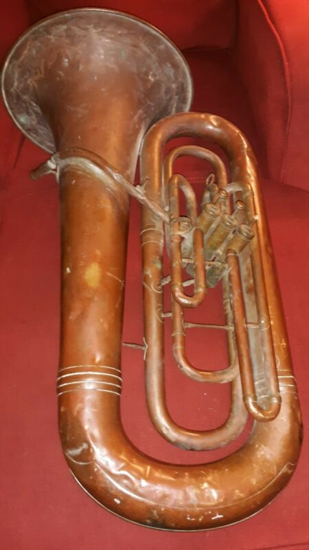 Cg Conn Elkhart Indiana Worcester MASS. early Tuba Antique 1890 serial # 18687