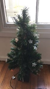 Plastic rotating Christmas tree with star lights Carlton North Melbourne City Preview