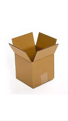 Shipping Boxes 6 X 6 X 6 6-inch Square 25 Pack Corrugated Cardboard Gift