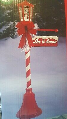 6 FT CANDY CANE SNOWING LAMP POST LIGHTED Christmas Outdoor Decoration