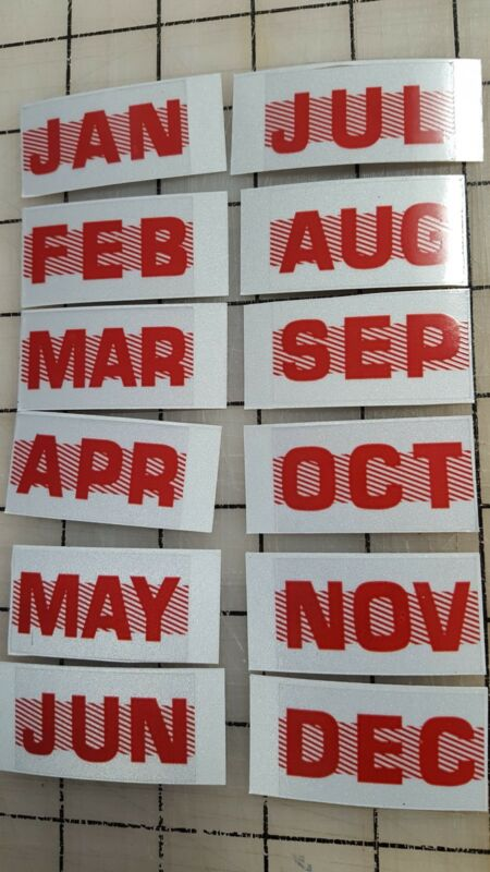 Any Month California DMV License Plate Red Registration Sticker Tag YOM CA