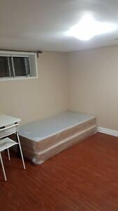 Furnished reno basement room rent Kennedy & Lawrence from Feb01