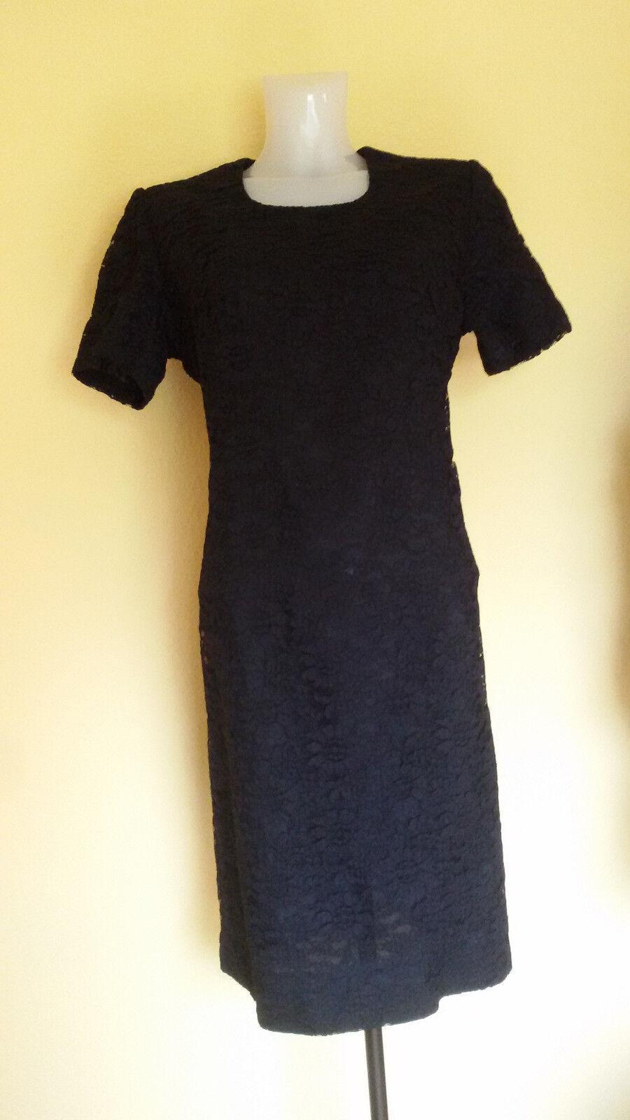 Kleid Damenkleid schwarz, Spitze, edel, Größe 40 Kurzarm gefüttert 50er Jahre