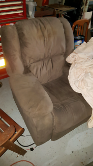 Arm Chair FREE Brown Suede
