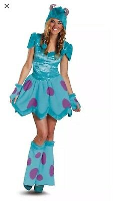 Disney SULLEY Monsters Inc Plush Dress Costume  Halloween 8-10 M + Mike Toy](Girls Monsters Inc Costume)