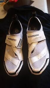 White Shimano Cycling Shoes Manly Manly Area Preview