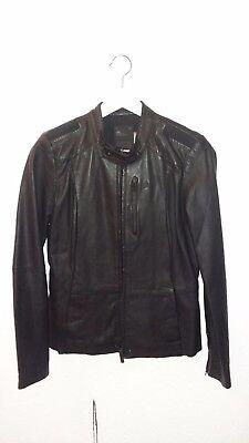 Lederjacke Blouson Jacke Echtleder Damen G-Star schwarz neu Bikerjacke M 38 Lamm, gebraucht gebraucht kaufen  Ratingen