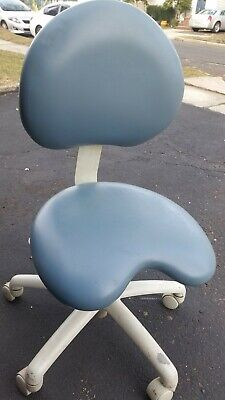Dentist Stool Ergonomic Blue Color Multi Adjustable Height And Back