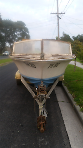 Boat with twin axel trailer Seaford Frankston Area Preview