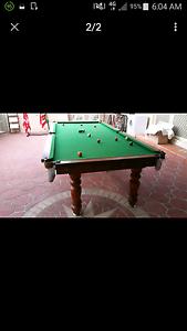 8×4 billiard table. Flemington Melbourne City Preview