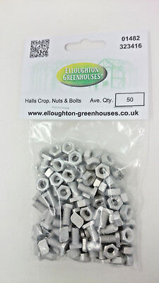50 HALLS EDEN CROPPED Greenhouse Nuts & Bolts Genuine Halls Eden and -