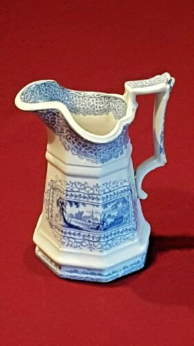 Antique Ironstone Transferware Cream Pitcher with 'Gipsy' Pattern