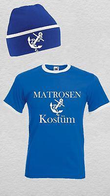 MATROSEN Kostüm mit Mütze Unisex Retro T-Shirt