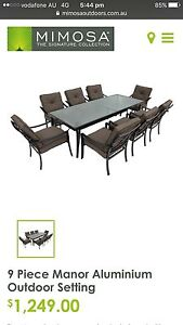 9 Piece Outdoor Setting Sunbury Hume Area Preview