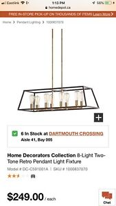 Home Decorators Collection 8-Light Two-Tone Retro Pendant