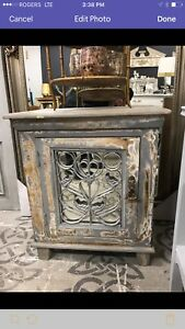 Rustic Mirrored Cabinet or Bedside Table