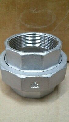 2 Pipe Union 316 Stainless Steel 150 Fnpt