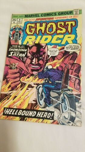 Ghost Rider 9 from 1974! Marvel Comics Nice