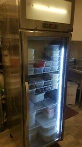 Commercial stainless steel Glass door fridge