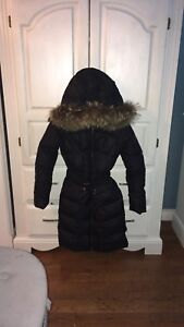 percent authentic Authier Italian real fur puffer jacket