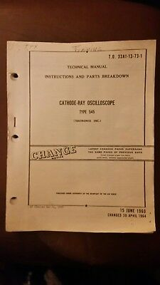 Tektronix Type 545 Cathode-ray Oscilloscopetechnical Manual