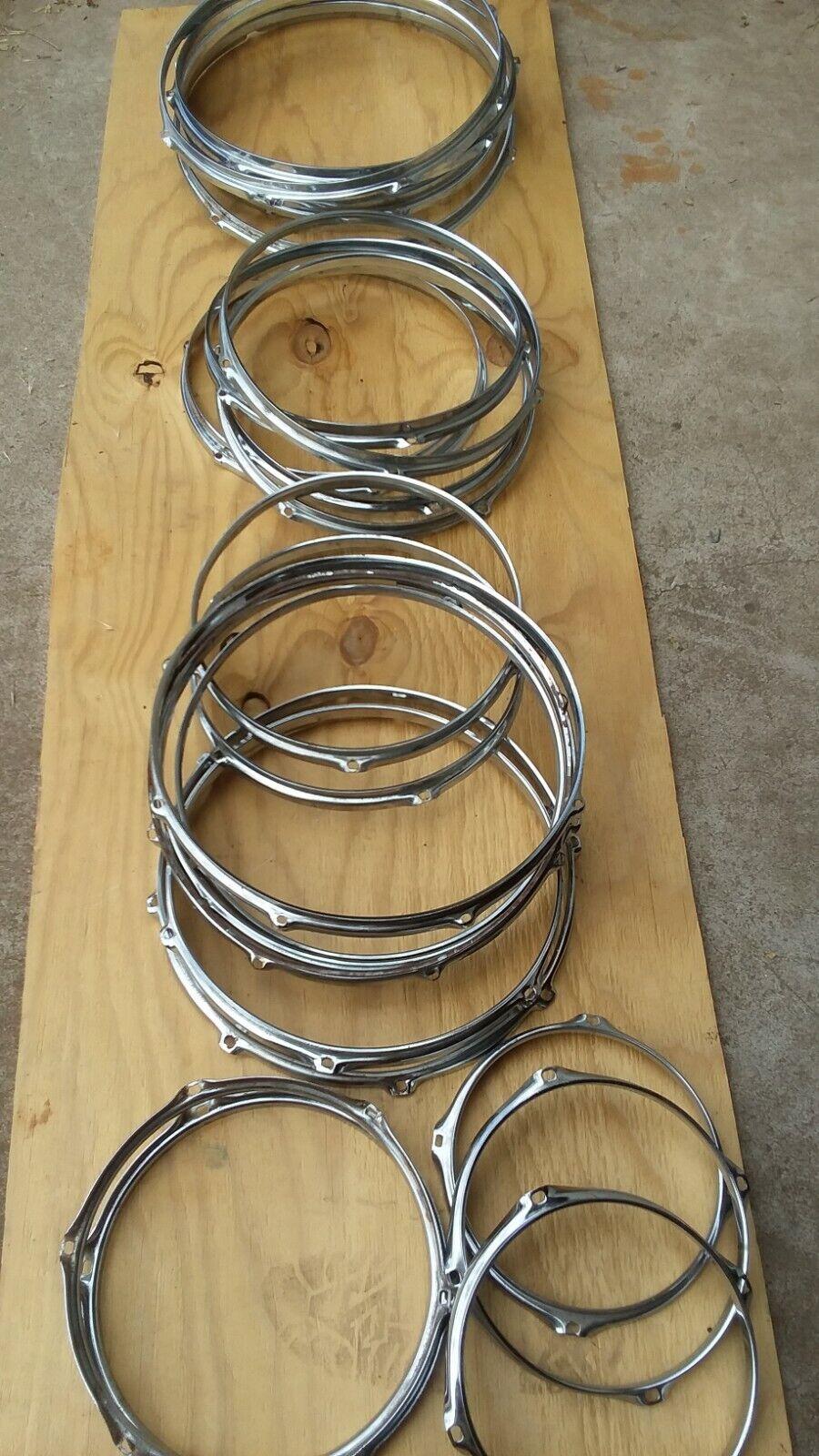 2 14 Snare Hoops / Rims. 6 Holes. 1 Set. Top Bottom. - $36.00