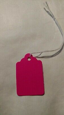 1000 5 Price Tags Fluorescent Pink With Strings