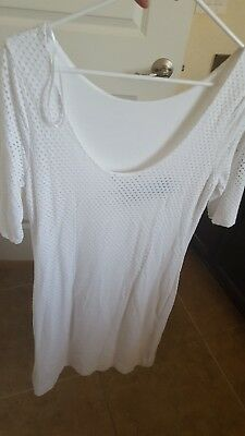 NEW Banana republic white dress SIZE 8