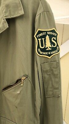 1980s US Forest Service Light Green Coveralls, USFS Vintage