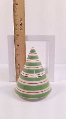 Yankee Candle Christmas Tree Tealight Holder, 2 pc, Red White Green Stripes