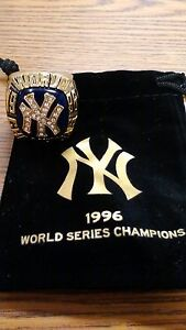 MLB NEW YORK YANKEES 1996 WORLD SERIES CHAMPIONSHIP REPLICA RING BRAND NEW W/BAG