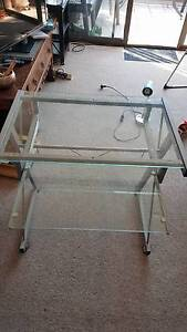 Glass desk and Office Chair Cremorne North Sydney Area Preview