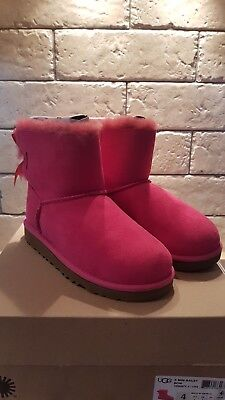 Ugg Australia GENUINE mini bailey bow boots, pink, ladies 3 will fit 4.