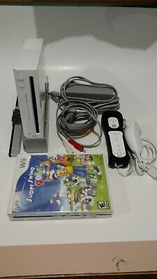 Nintendo RVL-101 Wii Console - White With Controllers & Games Tested