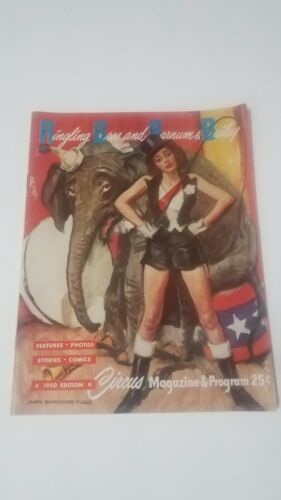 1950 RINGLING BROTHERS AND BARNUM AND BAILEY CIRCUS MAGAZINE AND PROGRAM
