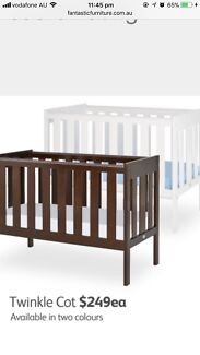 Brand new wooden baby cot+matress/junior bed with matress