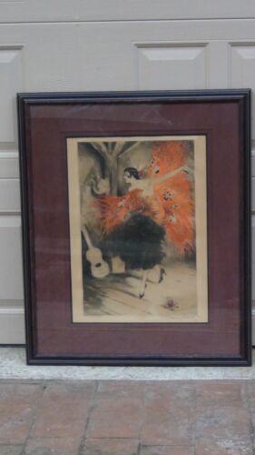 "Original Louis Icart (1888-1950,ny/france) Etching ""the Flamenco Dancer"" 1929"