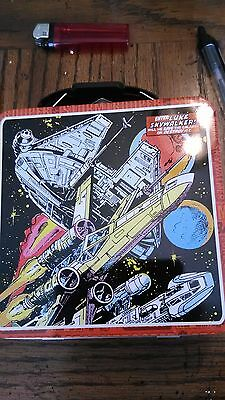 """NEW Star Wars Mini Tin Lunchbox Carry All Container 5.75"""" x 2.5"""" x 5.75"""""""