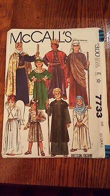 McCalls 7733 Childs Nativity Costumes Mary Joseph Angel Shepherd Wisemen 8-10 UC